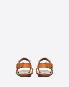 Cowhide Rockstud flat sandal