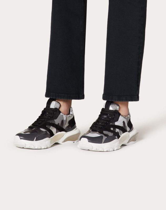VLTN Low-Top Sneaker Bounce Metallic-Camouflage