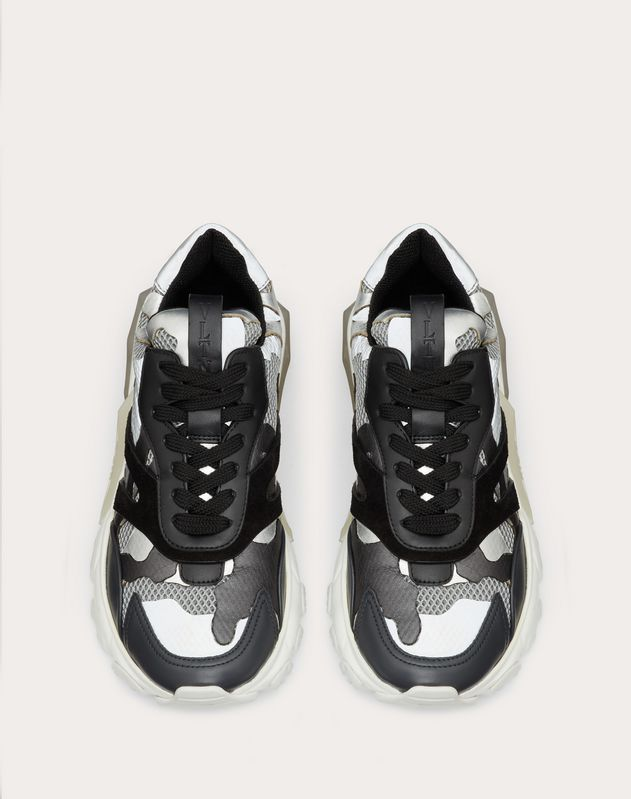Metallic Camouflage Low-Top Bounce Sneaker