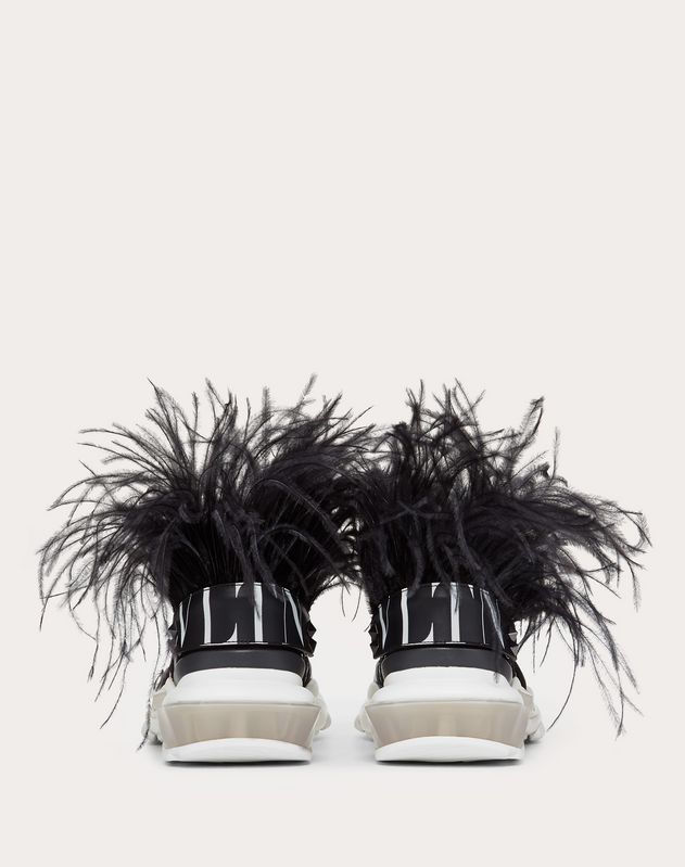 Bounce Low-Top Sneaker with feathers