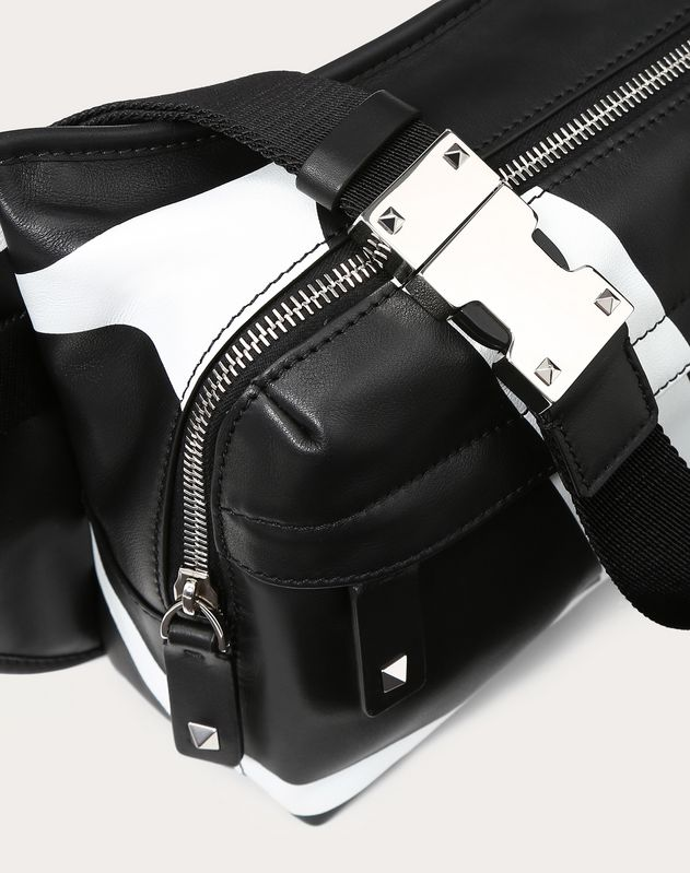 LARGE NAPPA LEATHER VLOGO BELT BAG