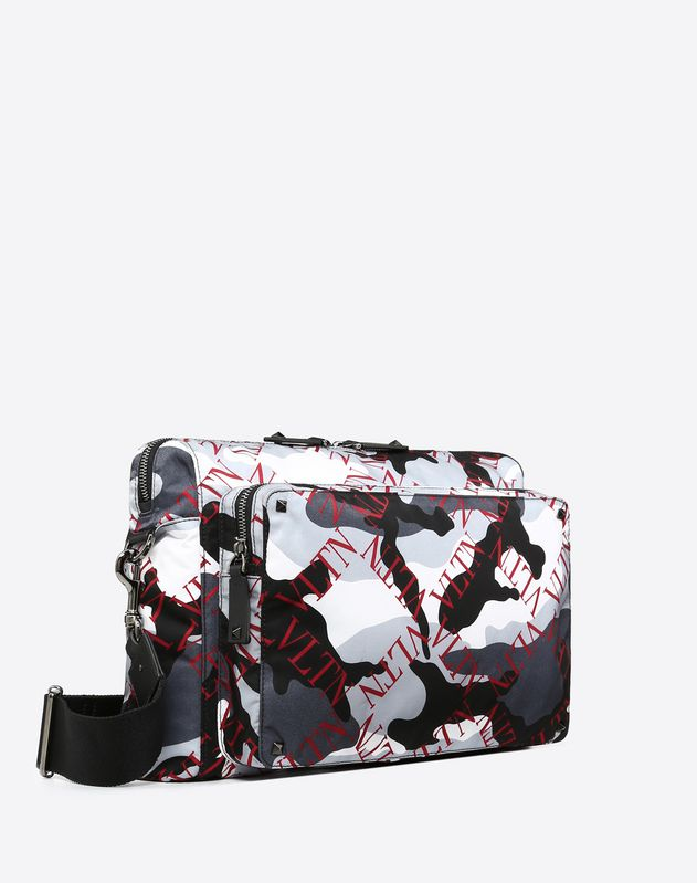 VLTN Grid Camouflage Crossbody Bag