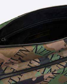 NYLON VLTN GRID CAMOUFLAGE MESSENGER BAG