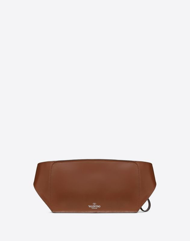LEATHER VLTN BELT BAG WITH RHINOCEROS EMBROIDERY