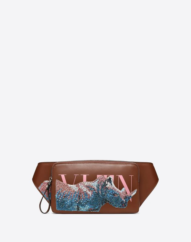 VLTN Embroidered Rhinoceros Crossbody Bag