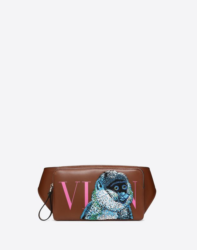 VLTN Embroidered Monkey Crossbody Bag