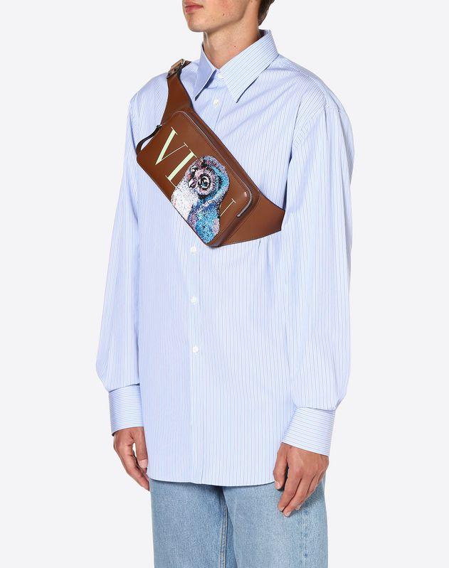 VLTN Embroidered Owl Crossbody Bag