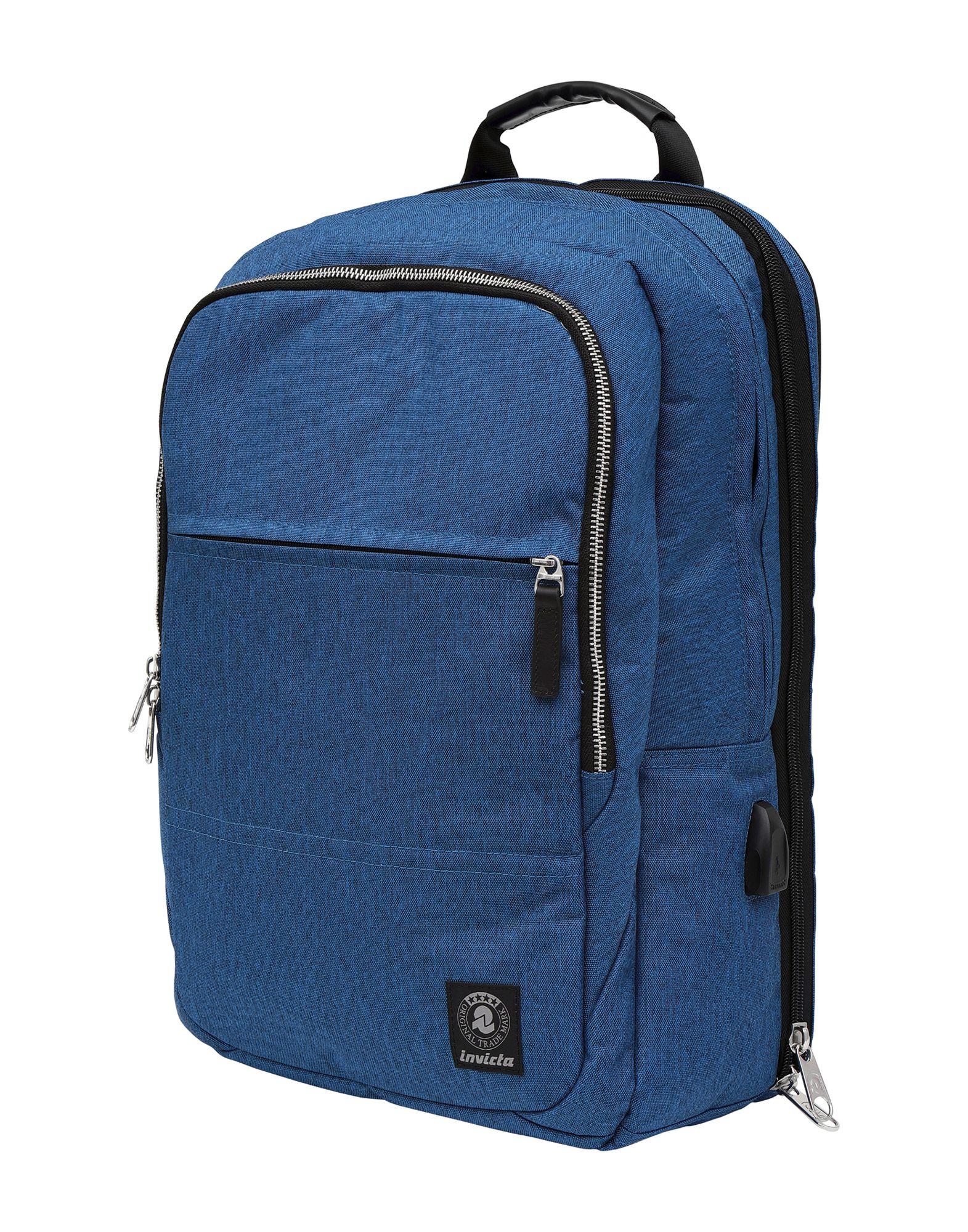 《送料無料》INVICTA Unisex バックパック&ヒップバッグ ブライトブルー ポリエステル 100% BIZ L BACKPACK