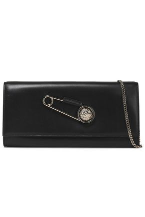Embellished Leather Clutch by Versus Versace