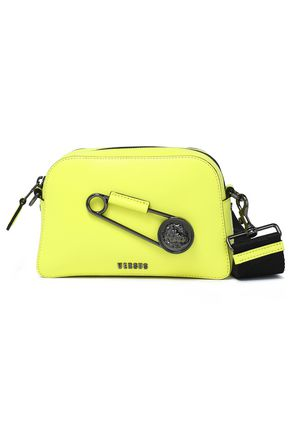 VERSUS VERSACE Embellished neon textured-leather shoulder bag