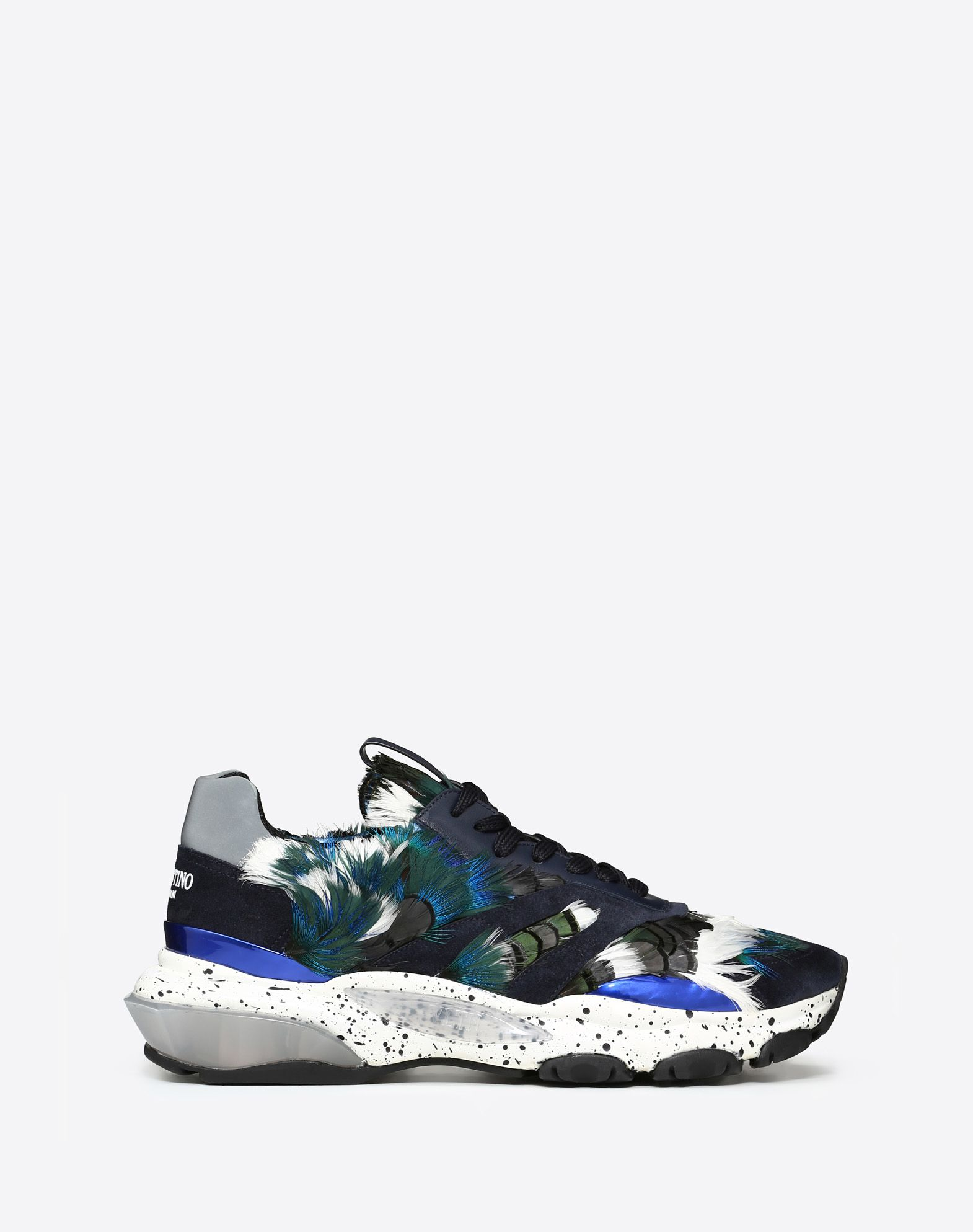 BOUNCE CAMOUFLAGE SNEAKER WITH FEATHERS