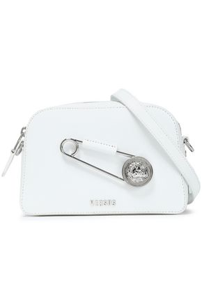 VERSUS VERSACE Embellished textured-leather shoulder bag