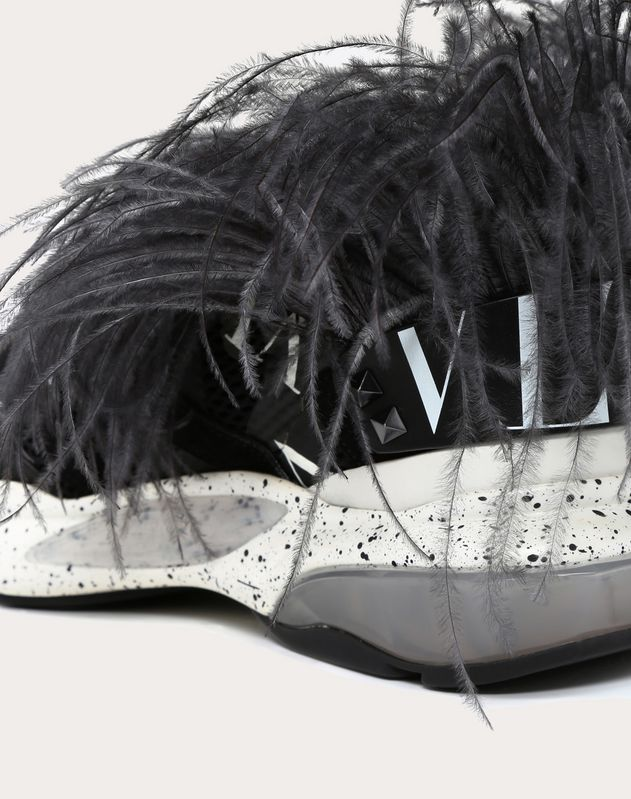 BOUNCE CAMOUFLAGE TRAINER WITH VLTN GRID AND FEATHERS