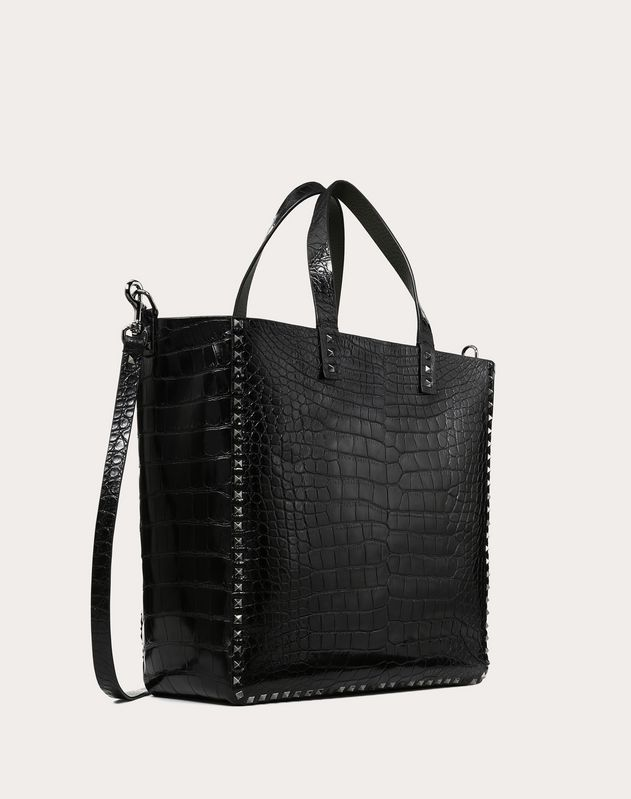 BORSA SHOPPING REVERSIBILE ROCKSTUD IN VITELLO GRANATO