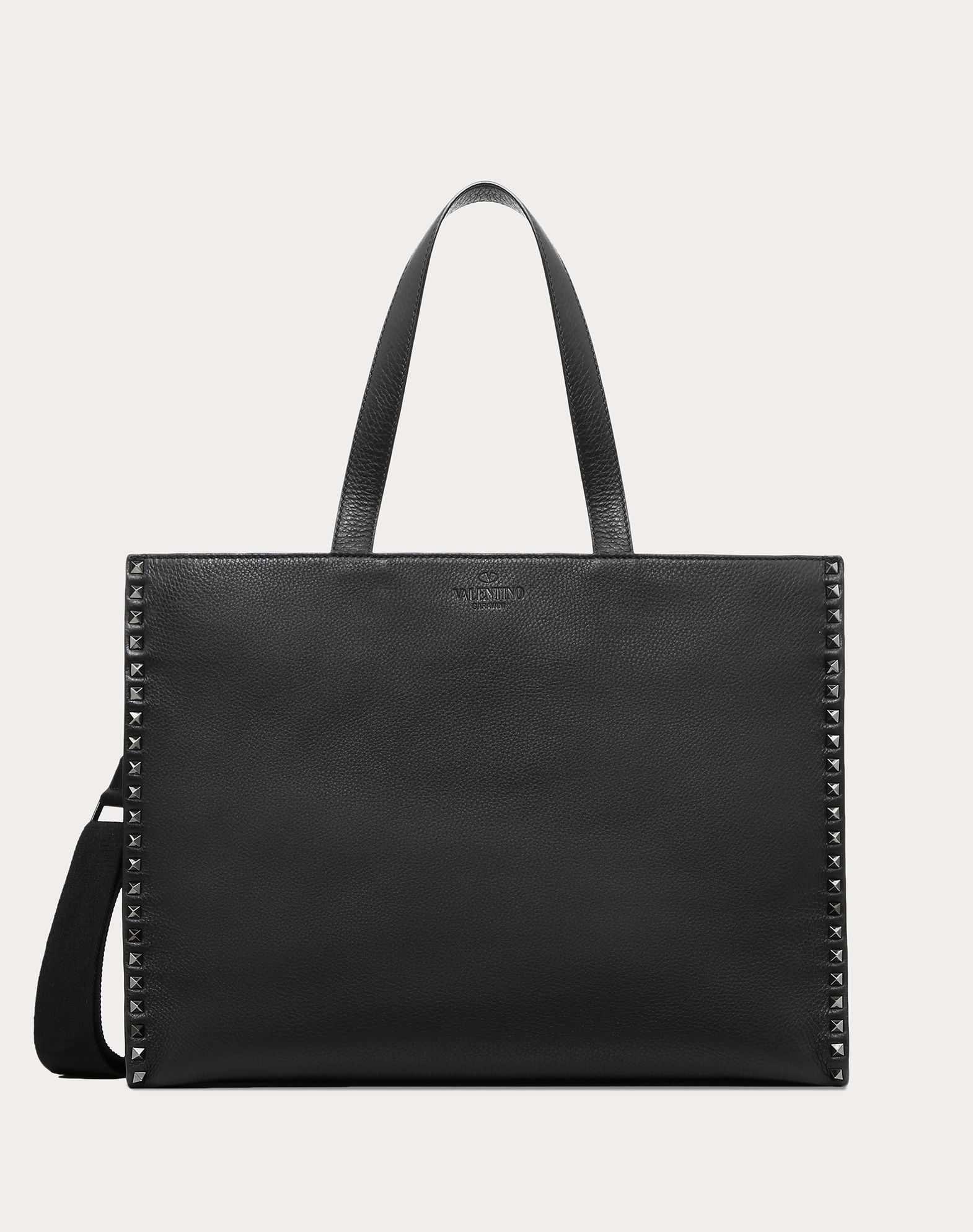 GRAIN CALFSKIN LEATHER ROCKSTUD TOTE