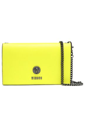 VERSUS VERSACE Neon textured-leather clutch