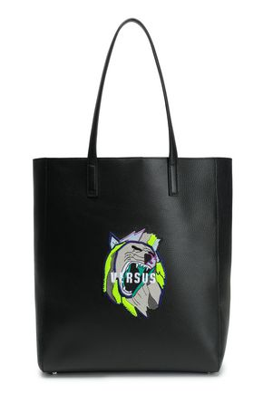 VERSUS VERSACE Appliquéd leather tote
