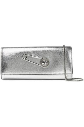 VERSUS VERSACE Metallic textured-leather clutch