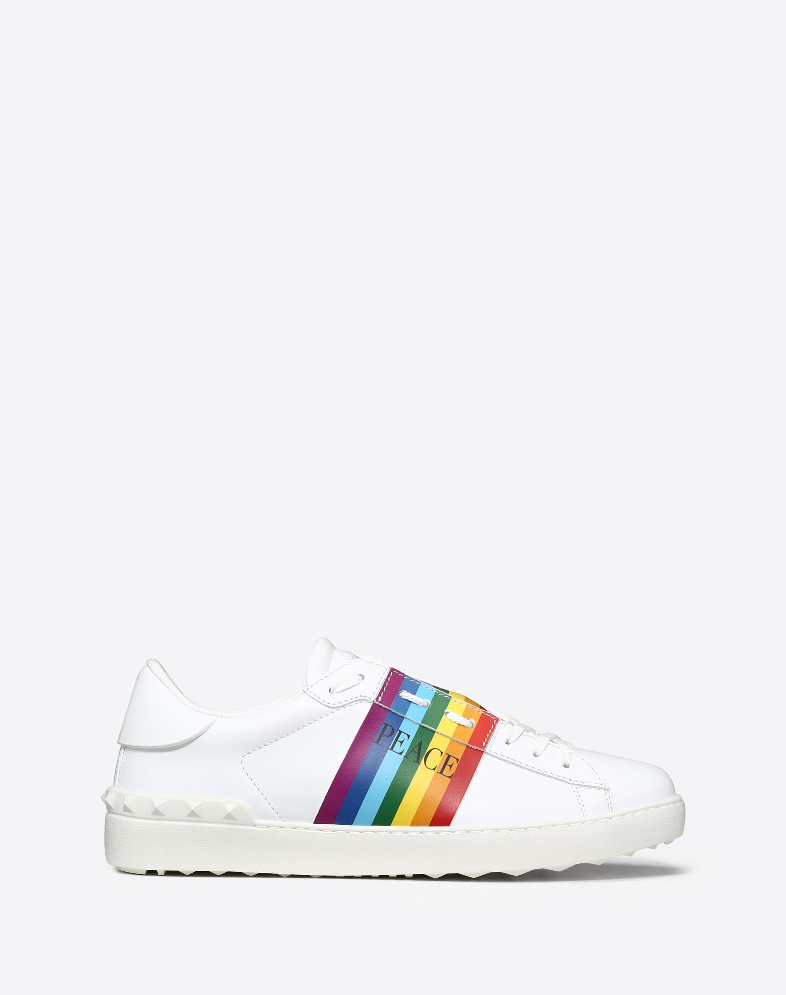 OPEN SNEAKER WITH RAINBOW BAND