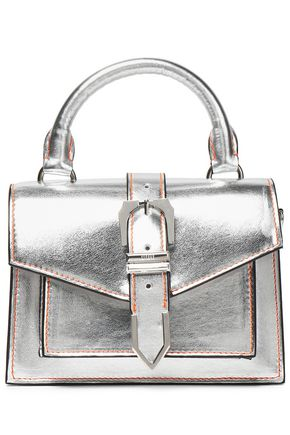 VERSUS VERSACE Metallic leather shoulder bag
