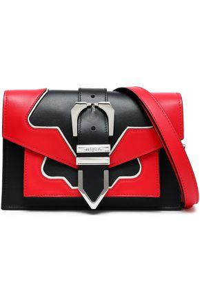 VERSUS VERSACE Two-tone leather shoulder bag