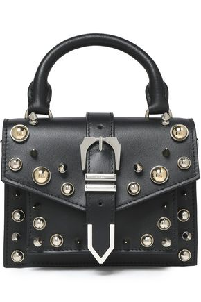 a6b434c8f7f4 VERSUS VERSACE Embellished leather shoulder bag ...