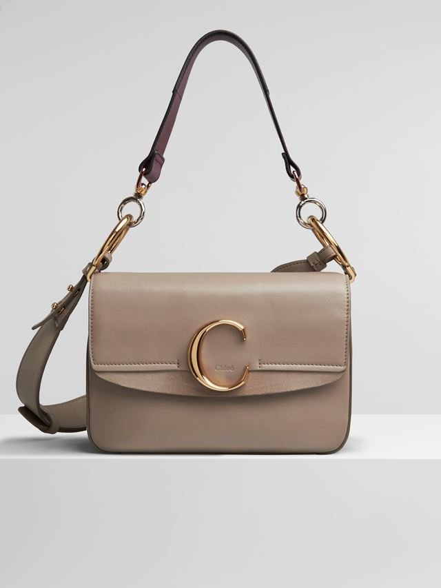"Small Chloé ""C"" double carry bag"