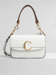 Small Chloé C double carry bag