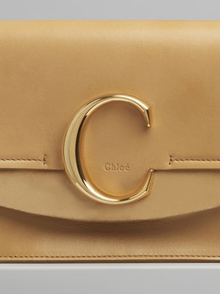 "Chloé ""C"" clutch with chain"