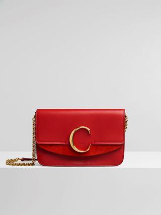 "Chloé ""C"" clutch with chain"