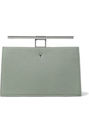 THE VOLON Chateau color-block textured-leather clutch