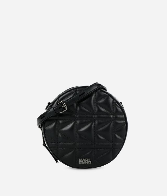Karl Lagerfeld - K/Kuilted sac bandoulière rond - 1