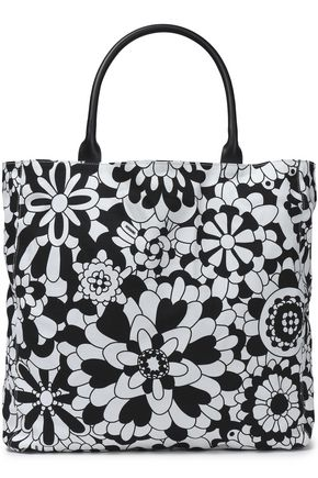 MISSONI Printed cotton-canvas tote