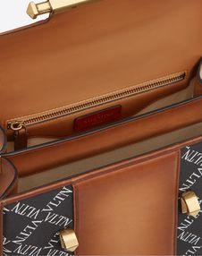 Large VLTN Burnished Calf Leather Uptown top-handle bag