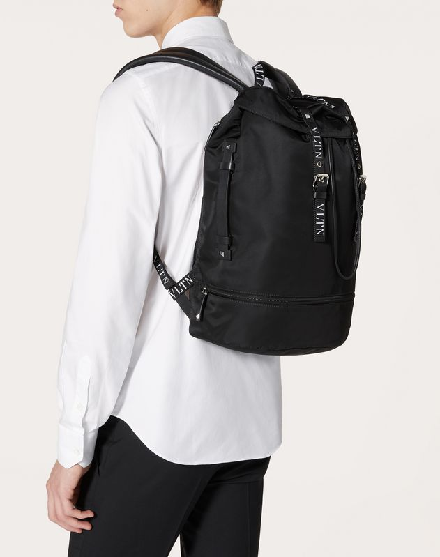 LARGE NYLON VLTN BACKPACK