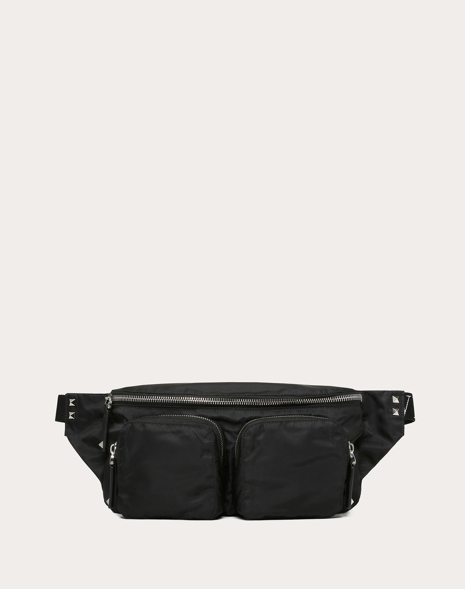 VLTN NYLON BELT BAG WITH FRONT POCKETS