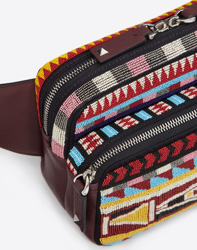 GOATSKIN EMBROIDERED BELT BAG