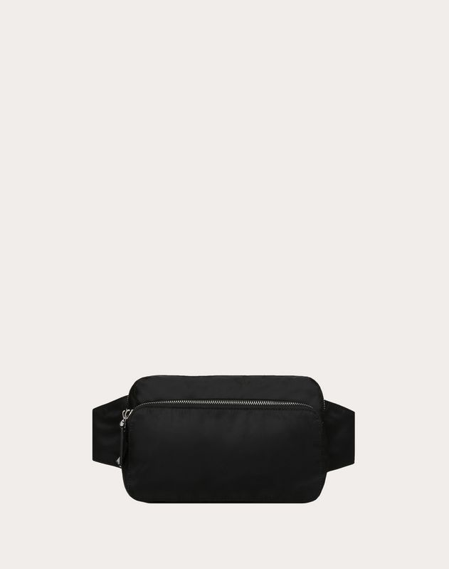 NYLON BELT BAG WITH VLTN RIBBON