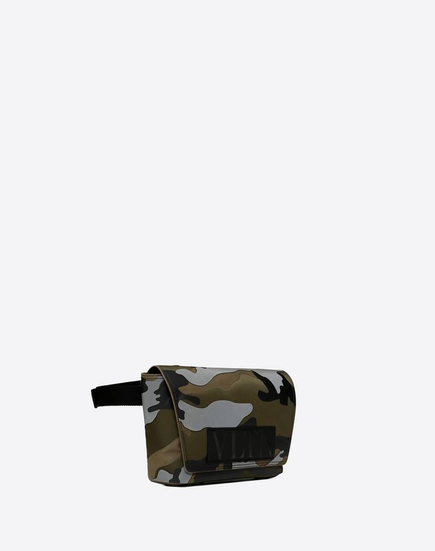 VLTN CAMOUFLAGE BELT BAG WITH REFLECTIVE DETAIL