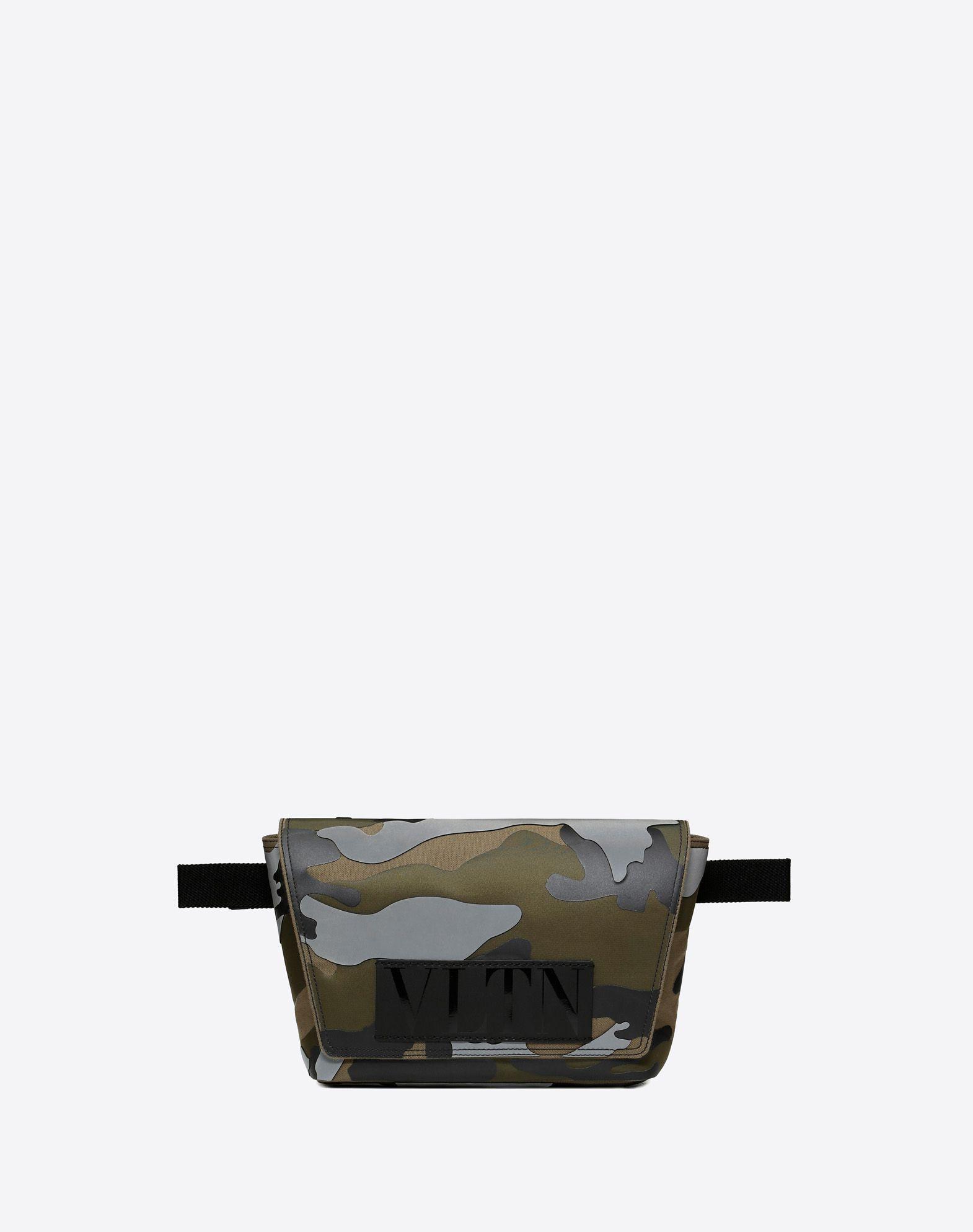 VLTN CAMOUFLAGE BELT BAG WITH REFLECTIVE DETAIL