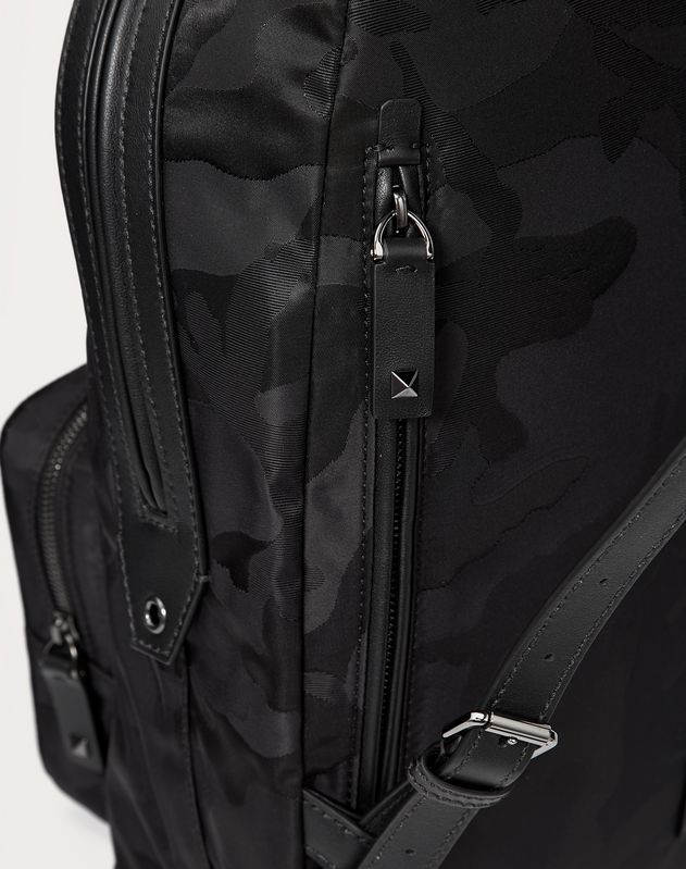 NYLON CAMOUFLAGE NOIR BACKPACK