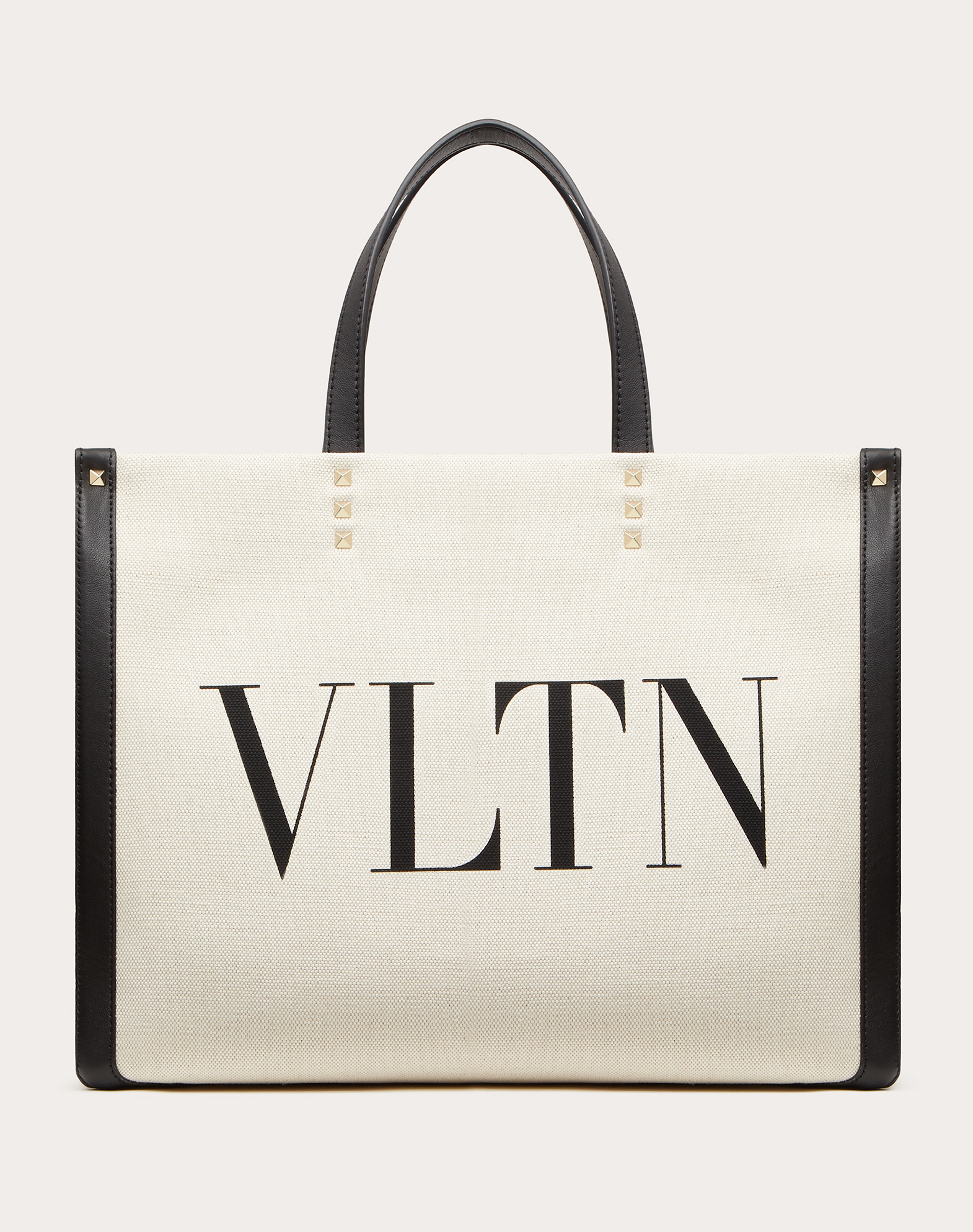 Small VLTN Print Canvas Tote Bag