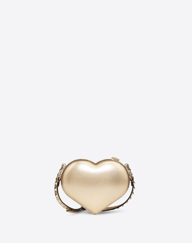Metallic Heart Clutch