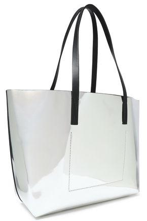 MARNI Metallic faux leather tote