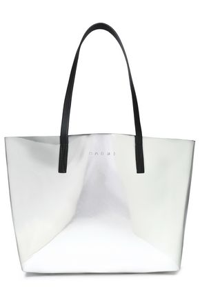MARNI Metallic faux leather tote