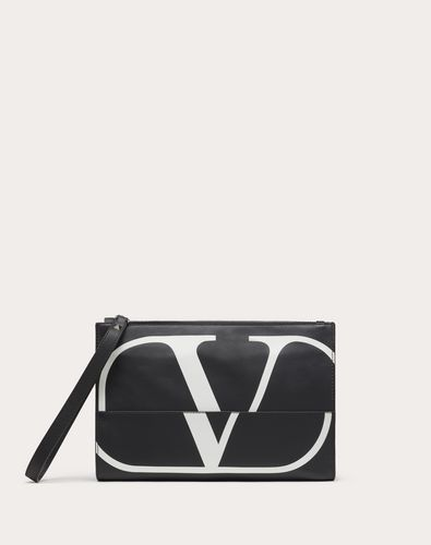NAPPA LEATHER VLOGO CLUTCH