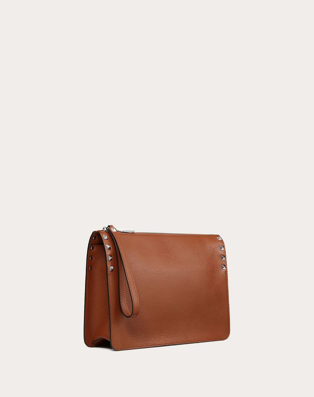 ROCKSTUD GOATSKIN SMALL CLUTCH