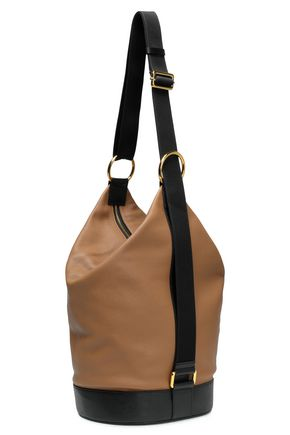 MARNI Two-tone textured-leather tote