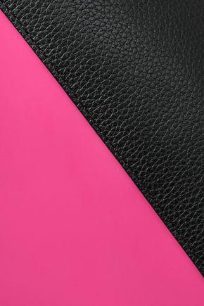 MARNI Textured leather-trimmed faux leather shoulder bag