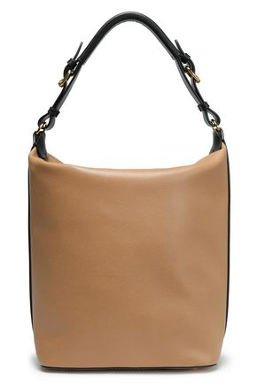 MARNI Two-tone textured-leather shoulder bag